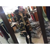 X4韩版女冬季外套棉袄学生大毛领面包服迷彩棉衣女中长款1.0