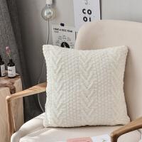 小清新全棉针织抱枕现代简约靠垫可拆洗床头靠枕少女心沙发抱枕芯 45x45cm含芯