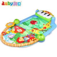 宝宝婴儿玩具0-3-12个月健身架带音乐脚踏钢琴早教健身器