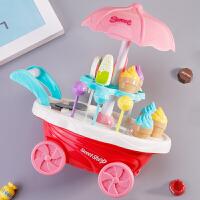 儿童女孩过家家玩具手推冰淇淋车3-5-6岁北美公主生日礼物糖果车