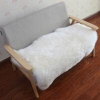 澳洲纯羊毛地毯客厅地毯卧室床边毯整张羊皮沙发垫飘窗垫定制白色 皇冠2P 240*75cm