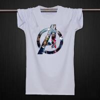 复仇者联盟2 t恤 纯棉短袖钢铁侠 绿巨人 观影T恤学生半袖