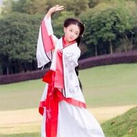 儿童汉服绣花曲剧女童古装服装冬款汉服民族风摄影楼古装演出服装