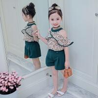 女童夏装2018新款套装洋气时髦儿童夏季两件套时尚韩版潮女孩衣服