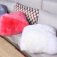 家用羊毛抱枕沙发靠垫办公室靠枕欧式抱枕大号汽车腰枕长毛