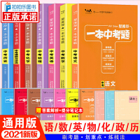 一本中考题数学语文英语物理化学历史道德与法治/政治全套7本2020新版