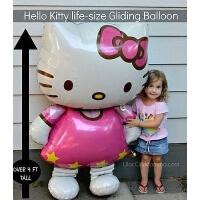 生日新年派对装饰hello kitty铝膜气球卡通造型铝箔玩具