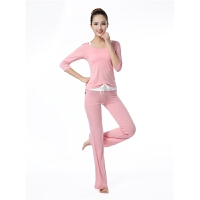春夏中袖瑜珈服三件套套装女莫代尔舞蹈练功服显瘦健身服套装