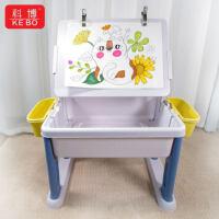 科博多功能宝宝积木桌学习桌子男孩子3女孩6周岁儿童益智拼装玩具