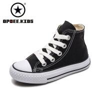 儿童帆布鞋高帮男童女童鞋子宝宝布鞋