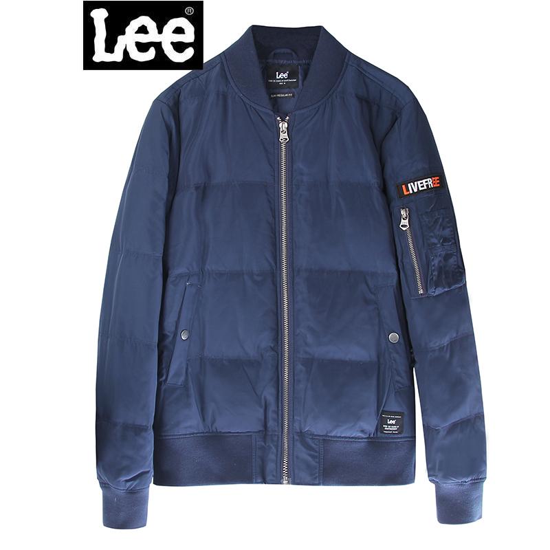 Lee男装 2017秋冬新品时尚简约立领拉链男士羽绒服L298902GF3BL