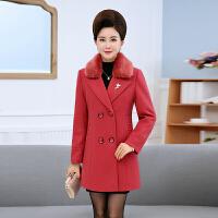 中老年女装冬装毛呢外套40-50岁妈妈装中长款加厚大码呢子大衣女