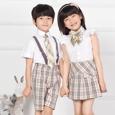幼儿园园服夏装儿童校服小学生礼服毕业照服装班服六一