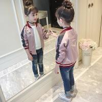 女童外套春秋季儿童装春装夹克小女孩洋气上衣棒球服