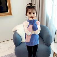 冬季女童装儿童宽松针织衫女大童冬款加厚毛衣
