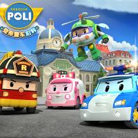 儿童玩具 合金车模套装变形警长珀利机器人POLI警车玩具车