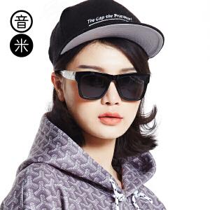 音米TR90超轻偏光太阳镜男 印花镜腿墨镜太阳镜女 圆脸 韩版 5066