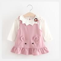 女童套装儿童长袖T恤+背带裙两件套婴儿女宝宝春秋装