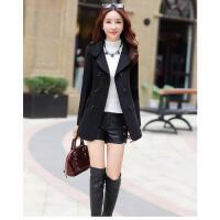 韩观2018冬新款短款毛呢外套女韩版小个子矮加厚呢子黑色chic妮子大衣
