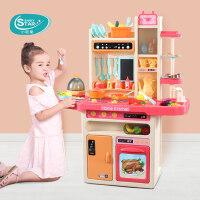 小伶过家家玩具套装女孩儿童厨房做饭煮饭厨具3-6岁7女童生日礼物