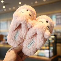 儿童棉拖鞋秋男童软底室内防滑女童可爱保暖居家亲子毛毛拖鞋冬季