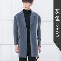 韩版毛呢大衣羊毛大衣男中长款青年冬季呢子外套修身妮子风衣英伦
