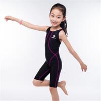 儿童泳衣女孩连体专业训练比赛游泳衣女童泳衣中大童速干运动