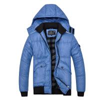 冬季运动棉衣外套男加厚保暖青年棉袄可脱卸帽子