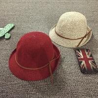 儿童帽子秋天礼帽渔夫帽宝宝帽子男女童遮阳帽针织帽韩版潮可折叠