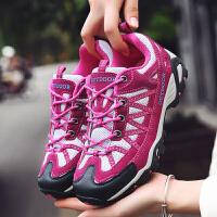 夏天户外鞋防滑爬山鞋春秋季女士登山鞋越野徒步鞋男网布透气