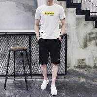 短袖T恤男棉套装潮流韩版休闲两件套五分裤运动套装933 套装
