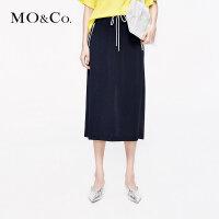 MOCO2019夏季新品抽绳运动风格半身裙MAI2SKT024 摩安珂