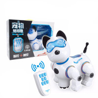 遥控触摸仿真机器狗儿童早教机械犬带灯声光音乐男孩女孩有声益智玩具