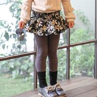 2018秋冬季款韩版女童印花裤裙不倒绒童装宝宝加绒裙裤拼接打底裤