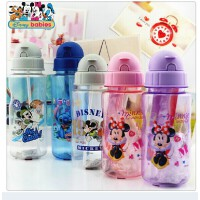 迪士尼儿童卡通吸管杯 水瓶 书包侧水壶 学生水杯子716 719j
