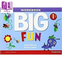 【中商原版】Big Fun 1 Workbook with Audio CD 朗文培生英语学乐趣1级光盘 Big Eng