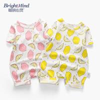 婴儿夏季衣服宝宝男女外出抱衣0-3个月薄连体衣