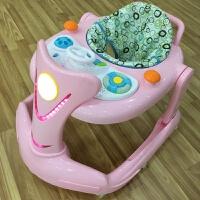 婴儿童学步车6/7-18个月多功能U型防侧翻宝宝带音乐折叠手推可坐