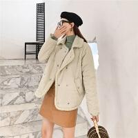 七格格棉衣女韩版宽松学生冬季外套2019新款小个子加厚短款潮