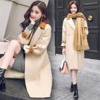 冬季加厚毛呢大衣女中长款韩版新款气质修身显瘦保暖呢子外套