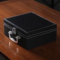 【品牌热卖】紫砂保温杯男女士茶杯子办公商务礼品内胆杯 大展宏图+皮质礼盒