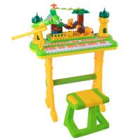 儿童玩具 带麦克风电子琴玩具音乐启蒙教学女孩宝宝儿童早教益智礼盒装生日礼物 积木电子琴