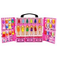 娃娃迷你梦幻衣橱星座珍藏大礼盒套装女孩公主换装玩具dtc36 迷你芭比梦幻衣橱 官方正品
