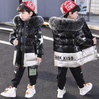 儿童装男童棉衣新款羽绒中大童冬装中长款棉袄