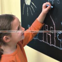 斯图 墙贴纸 黑板贴  10万次擦写 2米长送粉笔 墙纸