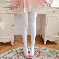 春秋白色连裤袜加大码不透肉打底袜奶白色丝袜白色舞蹈连裤袜