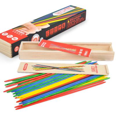 【2件5折】彩色游戏棒 传统木质游戏挑棒41根木盒装 怀旧益智游戏 怀旧益智游戏