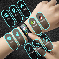 智能手表男学生青少年只能潮女多功能led数码电子表防水运动手环