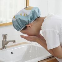 卡通浴帽家用新款沐浴帽�h油帽防水淋浴帽子防油男女通用PEVA浴帽
