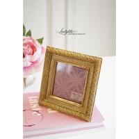 欧式法式复古金色挂墙相框6寸婚纱照相框摆台迷你画框装饰摆件 6寸